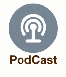 Podcast Button Grey